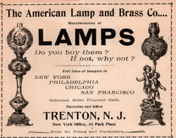 1896 AD AMERICAN LAMP BRASS CO VICTORIAN LAMPS $12.99