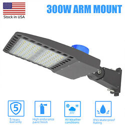 LED Parking Lot Light 300 Watt Commercial Outdoor IP65 Shoebox Street Pole Lamp
