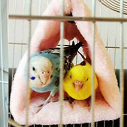 Pet Birds Parrot Toy Parakeet Budgie Soft Hammock Cage Hut Tent Bed Hanging Cave $8.73