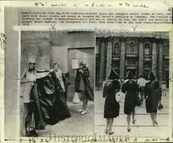 1972 Press Photo Mini skirted girls wear robes to St. Peter#x27;s Basilica Vatican $19.99
