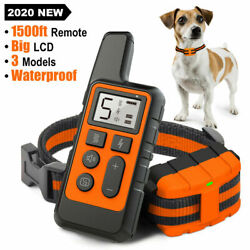 Dog Training Collar Rechargeable Remote Control Electric Pet Shock Vibration $23.59