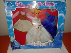 1974 SEARS DISNEY CINDERELLA amp; Her Outfits Doll Wedding Glass Slippers 2 Dresses $29.99