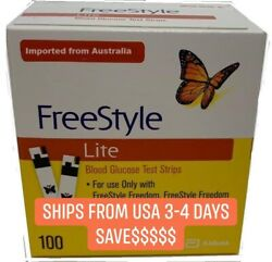 100 Free Style Lite Test Strips Exp 2.2022 Only 47.00 fast shipping $$ $47.00