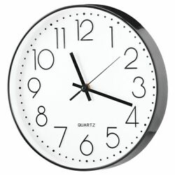 mDesign Modern Wall Clock for the Office Bedroom Kitchen 11.5quot; Diameter $14.99