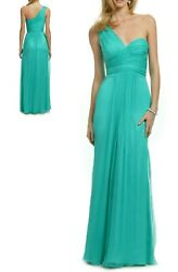 SALE ✔$900 CARLOS MIELE STUNNING PURE SILK AQUA BLUE RUNWAY DRESS GOWN 4 EUR38
