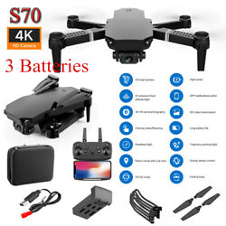 New RC Drone 4K HD Dual Camera Wi Fi FPV Selfie Drone Foldable Quadcopter Gift $40.99