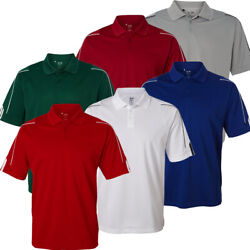 Adidas Golf Climalite 3 Stripes Cuff Polo Shirt Brand New $18.99