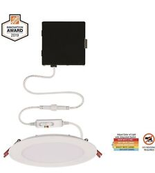 Commercial Electric Ultra Slim 6 in. Color Select Canless Recessed LED Kit