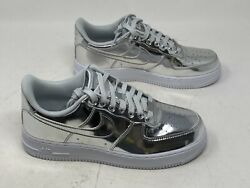 Nike Air Force 1 SP CQ6566 001 Chrome Metallic Women#x27;s 12 Men#x27;s 10.5 NO BOX TOP $79.94
