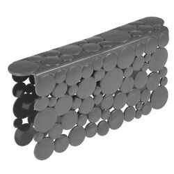 mDesign Plastic Kitchen Sink Protector Saddle Bubble Design Charcoal Gray $8.99