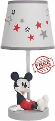 Disney Mickey Mouse Table Desk Shade Lamp Bulb Collection Vintage Children Child $80.81