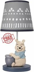 Disney Baby Forever Pooh Table Desk Shade Lamp Bulb Collection Vintage Children $68.43