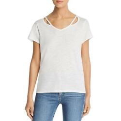 AA Collection Womens Cut Out Short Sleeve Tee T Shirt Top BHFO 8375 $4.58
