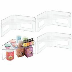 mDesign Plastic Kitchen Cabinet Lazy Susan Food Storage Tray 4 Pack Clear $55.00
