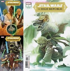 STAR WARS HIGH REPUBLIC #1 ALL 3 COVER HANS VARIANT A amp; B COMIC LOT SET 1 6 2021 $74.95
