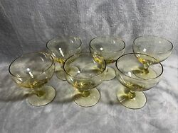 6 Russel Wright American Modern for Morgantown Chartreuse Wine Glasses $89.99