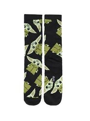 Disney Plus Socks Star Wars The Mandalorian Baby Yoda The Child Print Adult $14.98