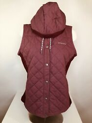 COLUMBIA Quilted Hooded Womens Md. Vest $17.11