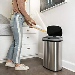 Automatic Kitchen Trash Can for Bathroom Bedroom Home Office 13 Gallon 50 Liter $58.99