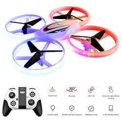 S123 LED Mini Drone for Kids Remote Control Drone Small RC Quadcopter for B7V1 $35.18
