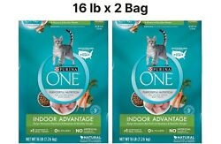 Purina ONE Weight Control Natural Dry Cat Food Indoor Advantage 22 lb x 2 Bag $54.90