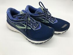 brooks ghost 12 womens 1203051B413 Sz 8.5 GUC Blue Athletic Running Sneakers $29.00
