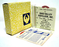 Ohio Valley Fertilizer Inc Rain Gauge Recorder Maysville Kentucky Macon Morco Ad $49.99