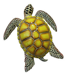 Tropical Sea Turtle Wall Beach Tiki Bar Nursery Bath Decor Yellow 8STW08 $14.88