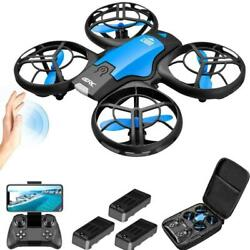 V8 Mini Drone 4K HD Camera WiFi Fpv Air Pressure Altitude Hold Black Quadcopter $31.90