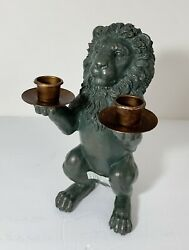 Design Toscano Lion Candle Holder Figurine Statue Italian Decor $35.00