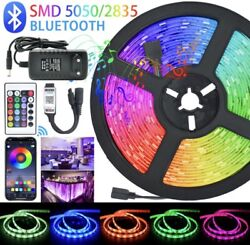 LED Strips Lights Bluetooth Luces Led RGB 5050 5M DC 12V Remote ControlAdapter