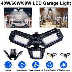 40W 80W 4000 8000LM Deformable Garage Lights Ultra Bright Ceiling Light Bulbs US $13.75