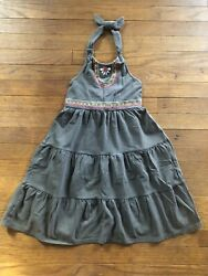 Gymboree Batik Summer Girl Tiered Halter Dress Size 8 $12.99