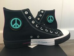 Converse Chuck Taylor All Star High Top Seek Peace Shoes Sneakers Black Mineral $59.95
