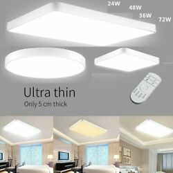 LED Ceiling Light Ultra Thin w Dimmable Flush Mount Kitchen Lamp Home Fixtures