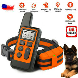 2600 FT Remote Dog Shock Training Collar Rechargeable Waterproof LCD Pet Trainer $22.99