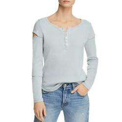 Chaser Womens Cut Out Ribbed Knit Tee Pullover Top Shirt BHFO 3132 $20.69