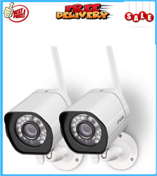 2 Pack Wireless Security Camera Smart Outdoor WiFi IP Night Vision Cloud Service $49.99