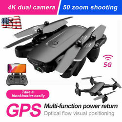 RC Quadcopter 5G 4K GPS Drone x Pro with HD Dual Camera Drones WiFi FPV Foldable $66.00