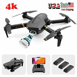 US 2020 Quadcopter Drone With HD Camera Selfie WiFi FPV Foldable RC 3 Batteries $64.46