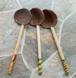 Coconut Shell Spoon Natural Kitchen Tools Srilankan Registered Post $8.99