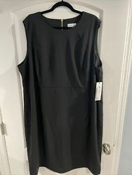 New With Tags CALVIN KLEIN Woman Women's Black Party Dress Plus Size 24W $49.99