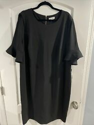 New With Tags CALVIN KLEIN Woman Women's Black Party Dress Plus Size 22W $49.99