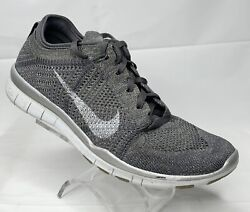 Nike Free TR Flyknit Running Shoes 804534 002 Silver White Women's 7.5 $39.99