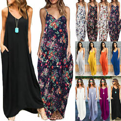 Plus Size Women BOHO Long Maxi Dress Holiday Party Casual Summer Beach Sundress $15.10