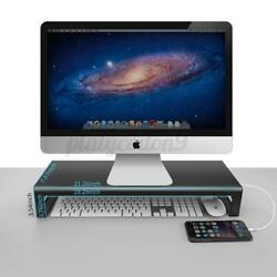 3.0 USB Aluminum Monitor Stand Laptop Stand Riser Support Transfer Dat $60.56