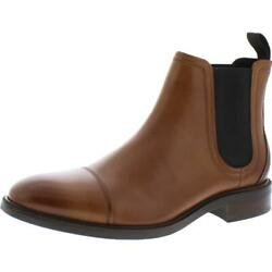 Cole Haan Mens Conway Tan Leather Chelsea Boots Shoes 8.5 Medium D BHFO 7312 $85.99
