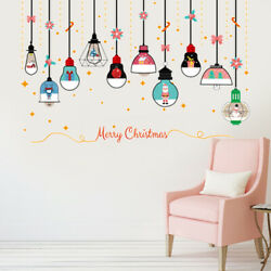 1PC PVC Romovable Non toxic Christmas Chandelier Wall Stickers Wall Decor $7.63