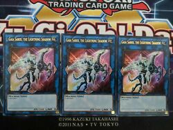Gaia Saber The Lightning Shadow 3x DUDE EN022 Ultra Rare 1st Edition $1.15