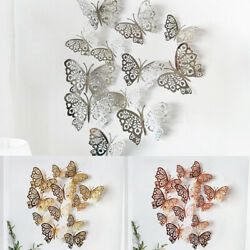 Wall Butterfly Stickers 12pcs Home office 3D Hallway Paper Decals Home C $11.10